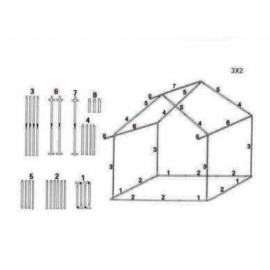 Prekybinė palapinė 3×2 Kreminė 2