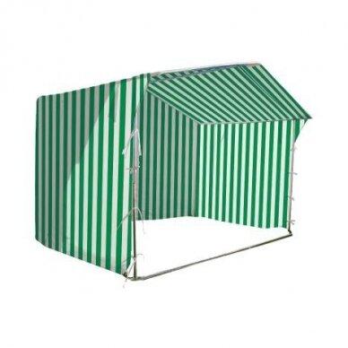 Prekybinė palapinė 3×2 Balta - Žalia