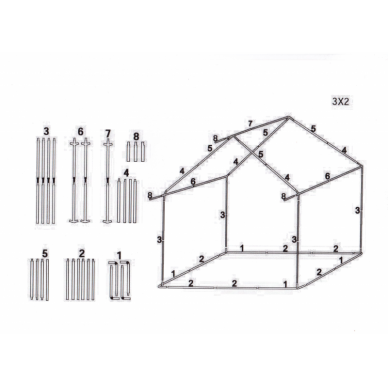 Prekybinė palapinė 3×2 Juoda 2