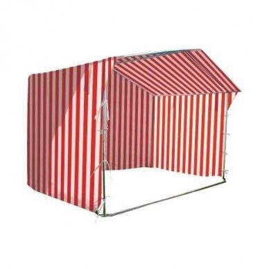 Prekybinė palapinė 3×3 Balta - Raudona