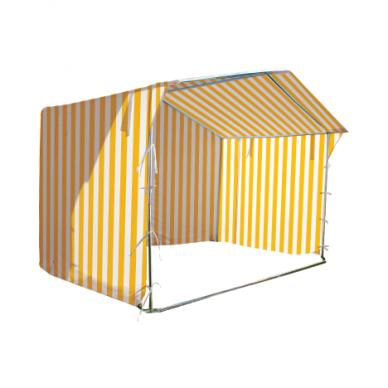 Prekybinė palapinė 3×3 Balta - Geltona