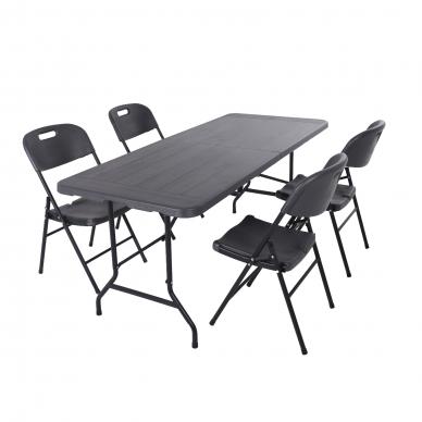 Sulankstomas stalas 180 cm Pilkas 5