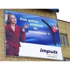 Reklaminis tentas PVC kvadratinis