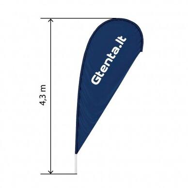 Reklaminė vėliava Lašas XL