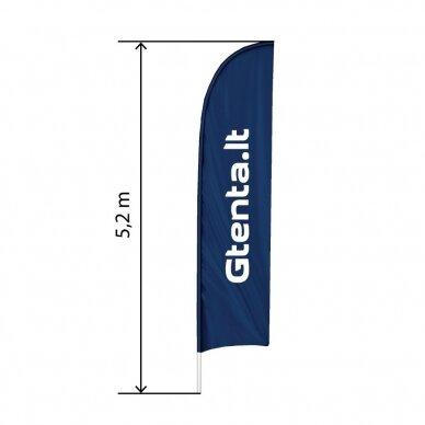 Reklaminė vėliava lygiu kraštu XL