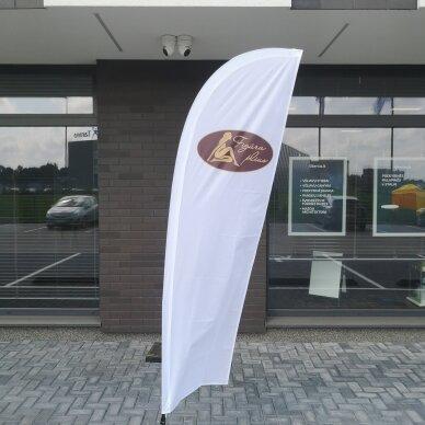 Reklaminė vėliava lygiu kraštu S 4