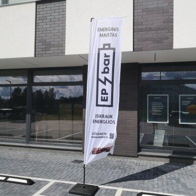 Reklaminė vėliava Stačiakampė M 2
