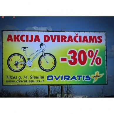 Reklaminis tentas PVC kvadratinis 2