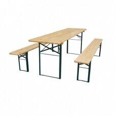 Stalo ir suolų komplektas 220x60