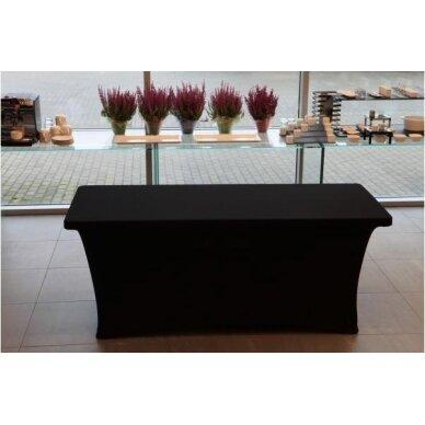 Staltiesė 150 cm Juoda 5
