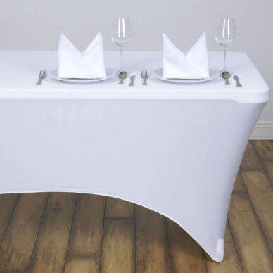 Staltiesė 240 cm Balta 5