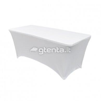 Staltiesė 240 cm Balta