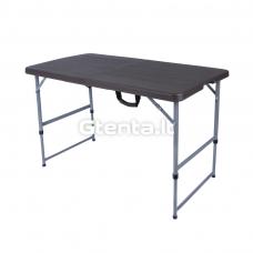 Sulankstomas stalas 118 cm Pilkas