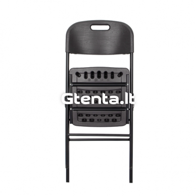 Sulankstoma plastikinė kėdė PRO Pilka 2