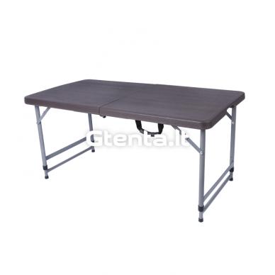 Sulankstomas stalas 118 cm Pilkas 9