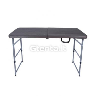 Sulankstomas stalas 118 cm Pilkas 2