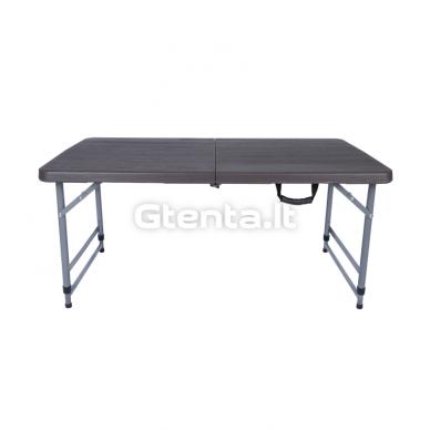 Sulankstomas stalas 118 cm Pilkas 10