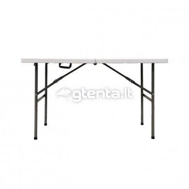 Sulankstomas stalas 122 cm Baltas 2