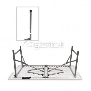 Sulankstomas stalas 122 cm Baltas 3
