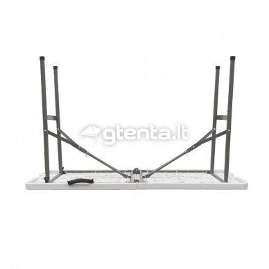 Sulankstomas stalas 122 cm Baltas 4