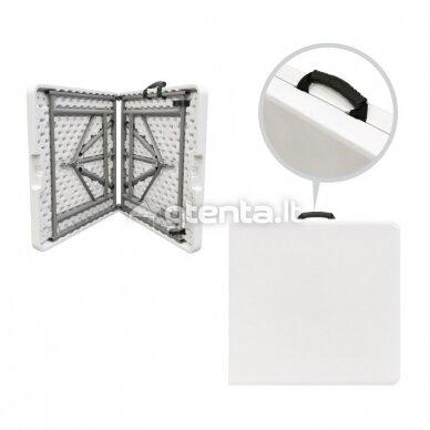 Sulankstomas stalas 122 cm Baltas 8