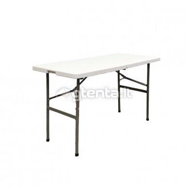 Sulankstomas stalas 122 cm Baltas