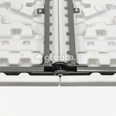 Sulankstomas stalas 122 cm Baltas 7