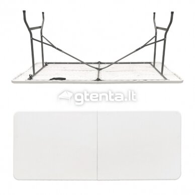 Sulankstomas stalas 150 cm Baltas 3