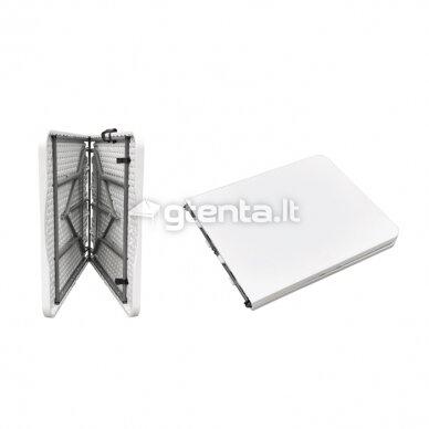 Sulankstomas stalas 150 cm Baltas 7