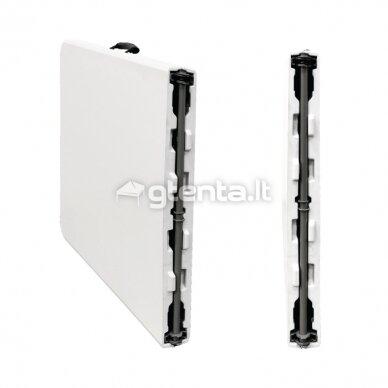 Sulankstomas stalas 150 cm Baltas 8