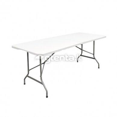 Sulankstomas stalas 150 cm Baltas