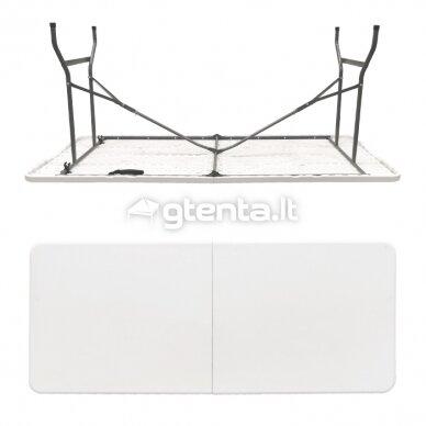 Sulankstomas stalas 180 cm Baltas 2