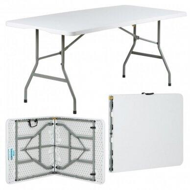 Sulankstomas stalas 240 cm Baltas 2