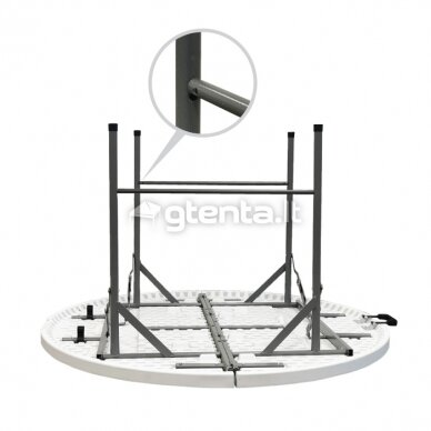 Sulankstomas stalas apvalus Ø 150 cm 8