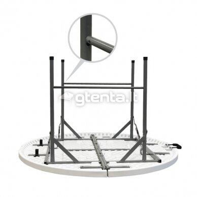 Sulankstomas stalas apvalus Ø 122 cm 8