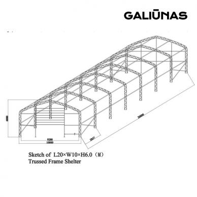 TENTINIS ANGARAS ,,GARMUS'' 18,3 X 12.2 X 6,4M 2