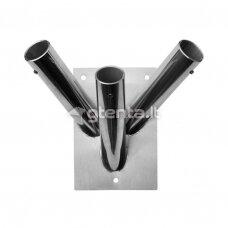 Trivietis nerūdijančio plieno laikiklis D24mm