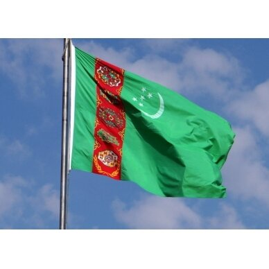 Turkmėnijos vėliava 2