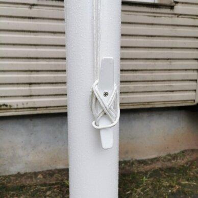 Vėliavos stiebas 7 metrų baltas 5