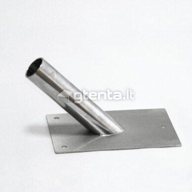 Vienvietis nerūdijančio plieno laikiklis D24mm 2
