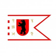 Žemaitijos vėliava su ,,runomis'' (be antkaklio)