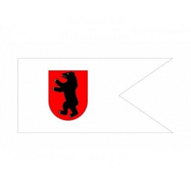 Žemaičių vėliava su ,,meška raudoname skyde'' (be antkaklio)