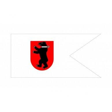 Žemaičių vėliava su ,,meška raudoname skyde'' (su antkakliu)