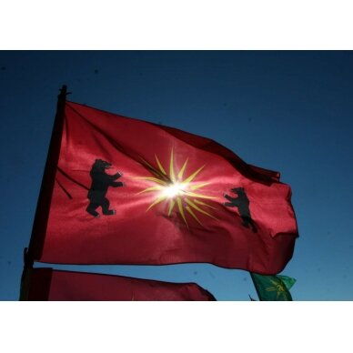 Žemaičių vėliava su ,,meškomis''