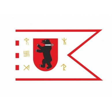 Žemaitijos vėliava su ,,runomis'' (su antkakliu) 2